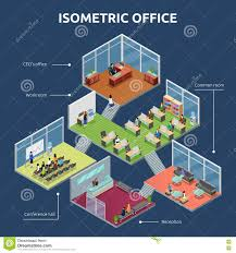 Flooring Business Plan by Isometric Office 3 Floor Building Plan Stock Vector Image 74236470