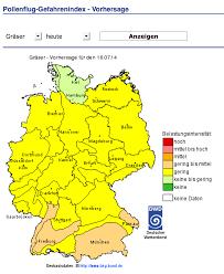 Pollen Map Informationen Für Pollenallergiker Samter Trias