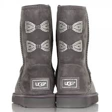 womens noira ugg boots uk ugg locomotive grey bow s boot at rojo