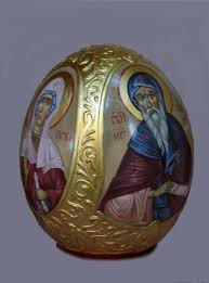 painted ostrich egg painted ostrich egg egg icon easter gift orthodox gifts