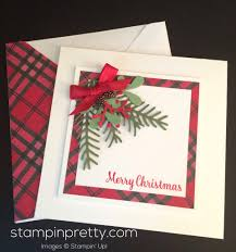 simple u0026 pretty pines holiday card idea mary fish stampin
