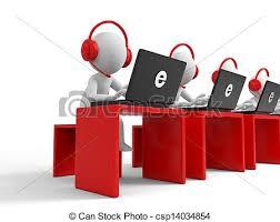 Customer Service Desk Stock Illustrations Of Customer Service Desk Computer Four