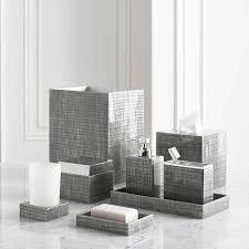 Grey Bathroom Fixtures Bathroom Accessories Kassatex Delano Grey Bath Gracious Home