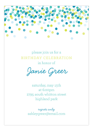 polka dot invitations blue falling confetti invitation polka dot invitations