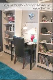 Kids Work Desk by Land Of Nod Kids U0027 Homework Room With Black Chalkboard Panel Over