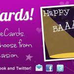 card invitation design ideas send an ecard purple design