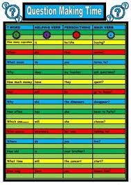 15 free esl question word order worksheets