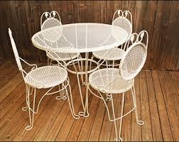 Metal Mesh Patio Table Outdoor Patio Table Etsy