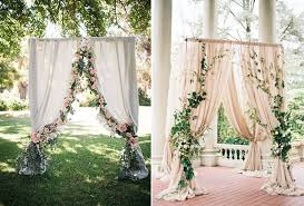wedding backdrop of flowers 8 gorgeous pipe drape wedding backdrops bridalpulse