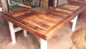 reclaimed wood l shaped desk l shape wood desk nomobveto org