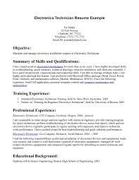 e resume exles electronics resume sle resume for study