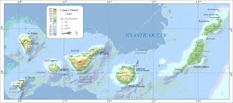 Spain On The Map by Map Of The Canary Islands Png