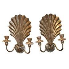 Shell Sconces Pair Of Hand Carved Shell Sconces For Sale At 1stdibs