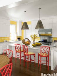 Kitchens With Yellow Cabinets Popular Kitchen Paint And Cabinet Colors Colorful Kitchen Pictures