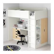 Twin Bunk Bed With Desk And Drawers Loft Beds With Drawers Stuva Loft Bed Combo W 4 Drawers 2 Doors