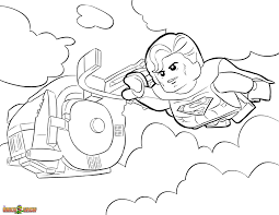 superman coloring printable sheet lego movie