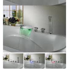 led bathtub faucets waterfall bathtub faucet at junoshowers