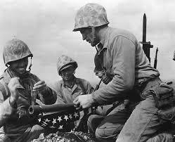 Marines Holding Flag Iwo Jima Memorial Marine Corps Base Camp Pendleton Iwo Jima