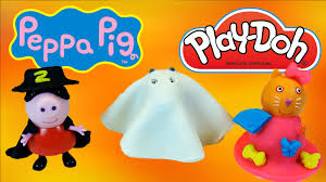 peppa pig halloween costumes with play doh danny dog and candy cat