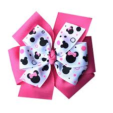 minnie mouse hair bow large layered hot pink minnie mouse hair bow katiebug bows llc