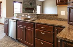 what color countertops look with brown cabinets 6 brown quartz countertop design ideas for a neutral kitchen
