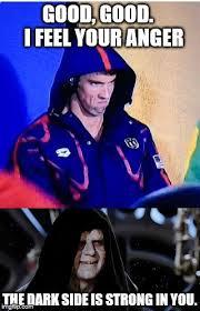 Michael Phelps Meme - michael phelps death star imgflip