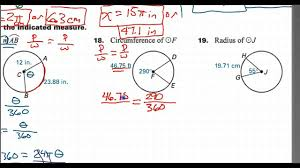 how to find the circumference given the arc length and an angle