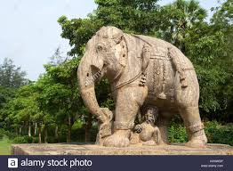elephant statue travel stone statue asia elephant sculpture india rock stock