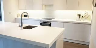How Thick Is Corian Corian Glacier White Island And Worktop Installation