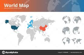 World Maps With Countries by World Map With Countries Borders And Earth Globes Showing All