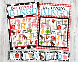 The Bingo Barn Farm Party Etsy