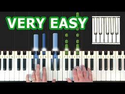 tutorial piano canon piano tutorial easy видео