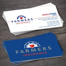 Vancouver Business Card Printing Farmers Insurance Business Card Template 1 4 Printing Expressly