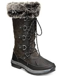 womens quilted boots sale bearpaw s gwyneth quilted lace up cold weather waterproof