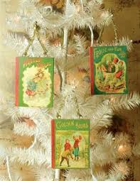 Christmas Book Ornaments - always in wonder book page christmas ornaments tween library