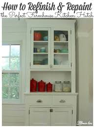 vintage kitchen cabinet makeover how to paint the vintage farmhouse kitchen hutch