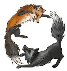 fox and wolf tattoos foxes wolf and