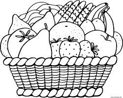 Coloriage panier de fruits exotiques  JeColoriecom