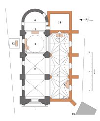 file saint michel de montaigne church sketch of a floor plan svg