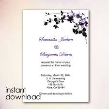Wedding Template Invitation 24 Best Diy Wedding Invitation Templates Instant Download Images