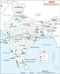 World Map Of India by Metallic Minerals In India Metallic Minerals Map