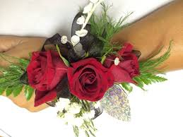 and black corsage black wrist corsage in warren mi flowers gifts galore llc