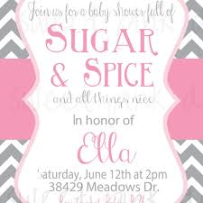 sugar and spice baby shower invitations dancemomsinfo com