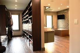 walk in closet design and bathroom video and photos