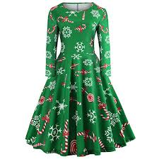 Amazoncom 2018 Women Christmas DressVintage Long Sleeve Gown