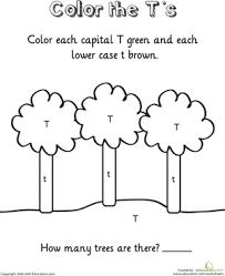 color the t u0027s worksheet education com