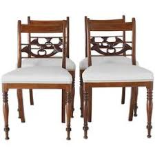 Antique Regency Dining Chairs Set Of Seven English Regency Mahogany Antique Dining Chairs Circa