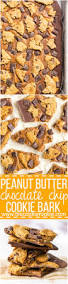 peanut butter chocolate chip cookie bark the cookie rookie