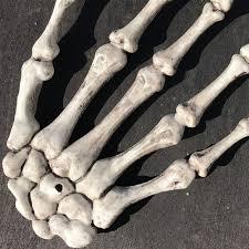 1 pair halloween skeleton hands haunted house halloween props