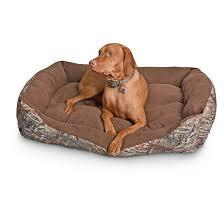 Igloo Dog Bed Cuddler Rectangle Dog Bed Mossy Oak Camo 657470 Kennels U0026 Beds